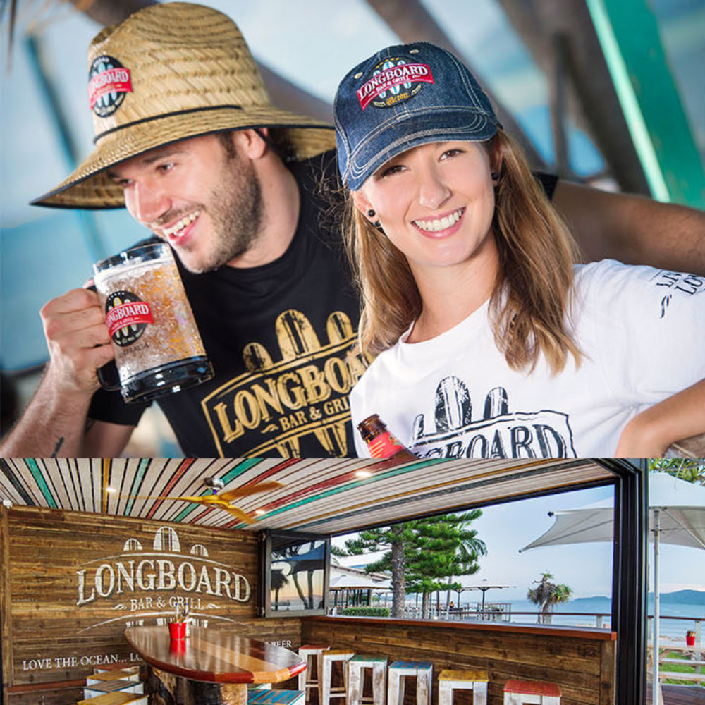 Longboard Bar & Grill, Interior & Merchandise | Townsville, Queensland