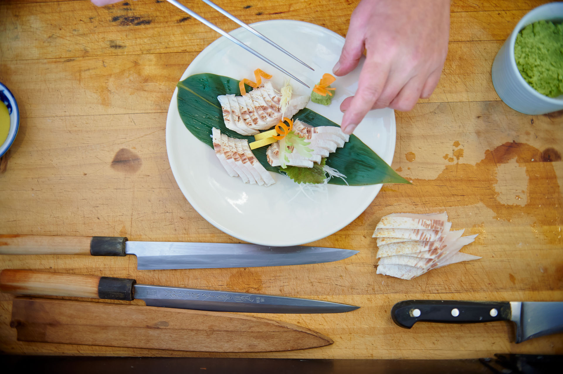 Photographs of Chefs preparing Cobia for Pacific Reef Fisheries
