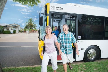 People utilising bus services within Toowoomba for the Queensland Government's Department of Transport an Main Roads, Translink Division