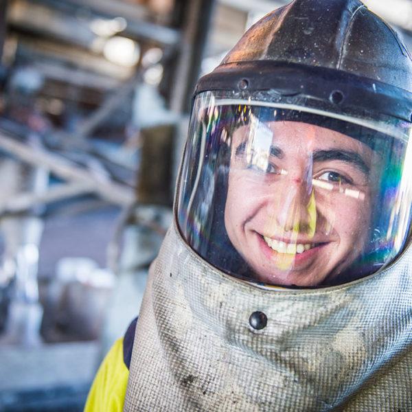 Kash Liddington, Lead Smelter Operator.