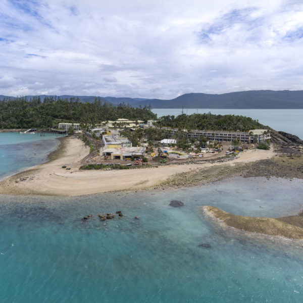 Drone imagery for the beginning of the refurbishment of Daydream Island by Amicus