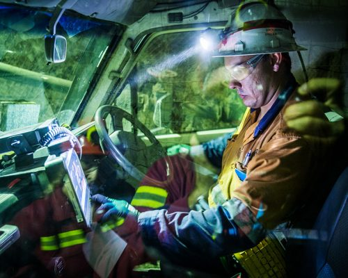 Simon Barnes, Senior Drill and Blast Engineer, Mining, MICO, Driving a light vehicle underground.
