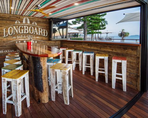 Folio photographs of the newly renovated Longboards Bar & Grill on The Strand in Townsville.